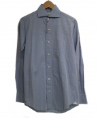 finamore(フィナモレ)の古着「コットンシャツ」 スカイブルー