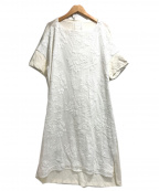 BEARDSLEY(ビアズリー)の古着「敦賀刺繍コンビワンピース」 ホワイト