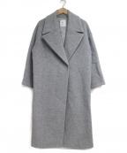 1er Arrondissement(プルミエ アロンディスモン)の古着「ビッグカラービーバーコート」|グレー
