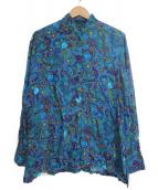 KENZO(ケンゾー)の古着「[古着]ペイズリーバンドカラーシャツ」|ネイビー