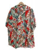 PAPAS(パパス)の古着「[古着]90'Sアロハシャツ」|グリーン×レッド