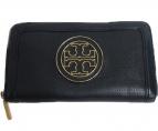 TORY BURCH(トリーバーチ)の古着「ラウンドファスナー長財布」|ブラック