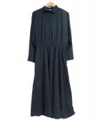 The American Shirt Dress(ザ アメリカン シャツ ドレス)の古着「[古着]80s シャツワンピース」|ネイビー