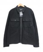 stussy×Patta(ステューシー×パッタ)の古着「Boiled Wool Overshirt JKT」|ブラック