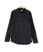 ()の古着「洗えるクリンクルジャガード長袖シャツ」|ネイビー
