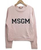 MSGM(エムエスジーエム)の古着「裏起毛クルーネックスウェット」|ピンク