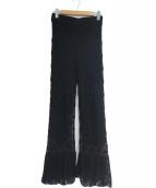 RAY BEAMS(レイビームス)の古着「クロシェ編み ニットパンツ」|ブラック