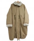 KBF(ケービーエフ)の古着「4wayミリタリーコート」 ブラウン