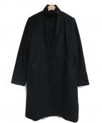 ITEMS URBAN RESEARCH(アイテムズ アーバンリサーチ)の古着「メルトンスアンドカラーコート」|ブラック