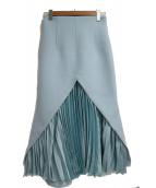 SHE tokyo(シートーキョー)の古着「マーメイドスカート」|スカイブルー