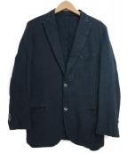 BOGLIOLI(ボリオリ)の古着「リネン混テーラードジャケット」|ネイビー