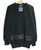 COMME des GARCONS HOMME DEUX(コムデギャルソン オム ドゥ)の古着「STRONG WILI Vネックニット」|ブラック