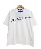 CDG JUNYA WATANABE MAN(コムデギャルソン ジュンヤワタナベマン)の古着「綿度詰天竺 HOME LONDONプリントTシャツ」 ホワイト