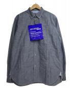 CDG JUNYA WATANABE MAN(コムデギャルソンジュンヤワタナベマン)の古着「ランダム縫い長袖シャツ」|グレー