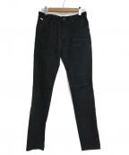 FACTOTUM(ファクトタム)の古着「リジットストレッチデニム テーパード」|ブラック