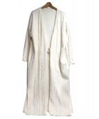 R JUBILEE(アール ジュビリー)の古着「コットンケーブルコート」|ホワイト