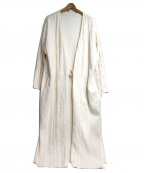 R JUBILEE(アール ジュビリー)の古着「コットンケーブルコート」 ホワイト