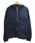 DIESEL(ディーゼル)の古着「ジップフーデットジャケット」|ネイビー