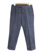 PT01(ピーティーゼロウーノ)の古着「ウールパンツ」|ネイビー