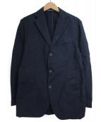 Cantarelli(カンタレリ)の古着「リネン混3Bテーラードジャケット」|ネイビー