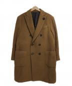 LARDINI()の古着「加工ウールコート」|ブラウン