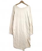AEWEN MATOPH(イウエン マトフ)の古着「スリット カットソー ワンピース」 ベージュ