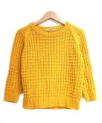 beautiful people()の古着「gima gridpattern pullover」|イエロー