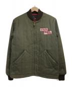 PHERROWS(フェローズ)の古着「中綿キルティングジャケット」|カーキ
