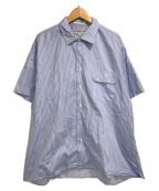 INDIVIDUALIZED SHIRTS(インディビジュアライズドシャツ)の古着「ストライプレスシャツ」|スカイブルー