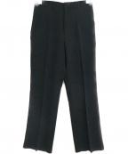 Loulou Willoughby(ルルウィルビー)の古着「センタープレスパンツ」|ブラック