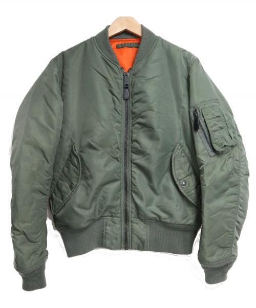 AVIREX(アヴィレックス)AVIREX (アヴィレックス) コマーシャルロゴMA-1ジャケット グリーン サイズ:SIZE Mの古着・服飾アイテム