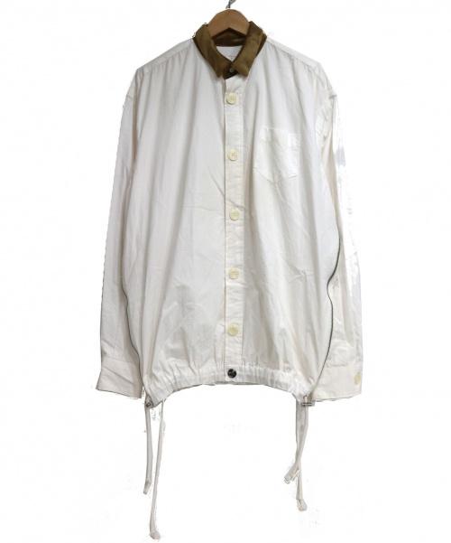 SACAI×CLOT(サカイ×クロット)SACAI×CLOT (サカイ×クロット) サイドジップシャツ ホワイト サイズ:SIZE Mの古着・服飾アイテム