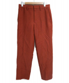CLANE HOMME(クラネ オム)の古着「CRYSTAL MOHAIR TAPERED SLACKS」|レッド
