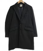 nano&co(ナノアンドコー)の古着「チェスターコート」 ブラック