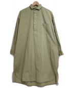 TICCA(ティッカ)の古着「ハーフボタンシャツワンピース」|グリーン