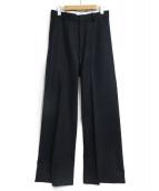 MADISON BLUE(マディソンブルー)の古着「WOOL WIDE STRAIGHT PANTS」|ネイビー