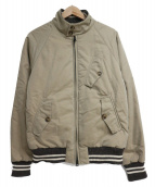 BARACUTA(バラクータ)の古着「中綿ハリントンジャケット」|ベージュ