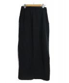 YOHJI YAMAMOTO(ヨウジヤマモト)の古着「[古着]ロングスカート」|ブラック