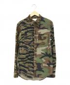Denim & Supply Ralph Lauren(デニム&サプライ ラルフローレン)の古着「カモフラシャツ」|グリーン
