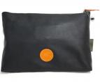 HUNTING WORLD(ハンティングワールド)の古着「レザーズタッズクラッチバッグ」|ブラック