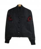 DIESEL(ディーゼル)の古着「袖切替スタジャン」|グレー