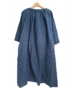 45R(フォーティファイブアール)の古着「リネンワンピース」|ネイビー