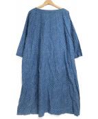 45R(フォーティファイブアール)の古着「総柄ブラウスワンピース」|ネイビー