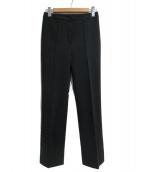 Demi-Luxe BEAMS(デミルクスビームス)の古着「ベアポンチ スリットヘムパンツ」 ブラック