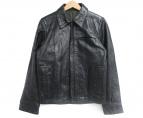 TMT(ティーエムティー)の古着「WAX COW LEATHER BLOUSON」|ブラック