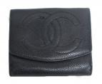 CHANEL(シャネル)の古着「2つ折り財布」|ブラック