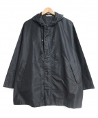 AURALEE(オーラリー)の古着「SILK TAFFETA HOODED COAT」 ブラック