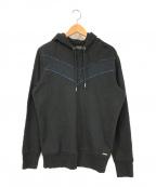 DIESEL(ディーゼル)の古着「プルオーバーパーカー」|ブラック