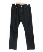 BURBERRY BLACK LABEL(バーバリーブラックレーベル)の古着「スキニーデニムパンツ」|ブラック