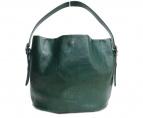 HIROFU(ヒロフ)の古着「レザーハンドバッグ」|グリーン